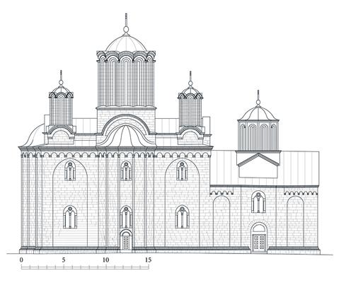 северна фасада цркве